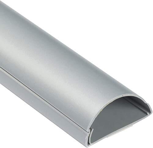 MN D-Line - Cable de PVC autoadhesivo para TV (aluminio, 5 x 2,5 cm), color plateado