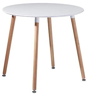 ❤️ Dimensione prefetto : La dimensione del tavolo rotondo bianco è 80 X 80 X 72 CM, perfetta per soggiorno e cucina e piccoli luoghi. ❤️ Il piedino resistente al panno resistente impedisce il pavimento da graffi e rumori. E il piedino può essere gira...