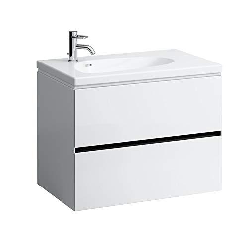Laufen Palomba Waschtischunterschrank für Waschtisch 814804, ohne Steckdose, 2 Schubladen, 575x785x495, Farbe: Snow (weiß matt)