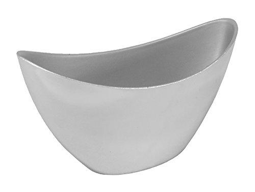 Decoline Kunststoff Blumentopf Schiff (Silber verspiegelt, S: 20 x 12cm)