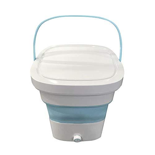Mini-Waschmaschine, TOPQSC 135W 1,8 kg USB-Turbo-Waschmaschine Tragbare persönliche Ultraschall-Rotationswaschmaschine für Familien und Wohnheime (Blau)