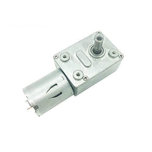DGPOAD Motor de Engranaje helicoidal Motor eléctrico pequeño de 12 voltios Motor de 12v CC 6v Reductor 18v con autobloqueo-24V 10rpm, Paquete R