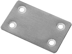 10 x roestvrijstalen geperforeerde plaat 60 x 38 mm plaatstaal geperforeerde plaat houten connector platte connector