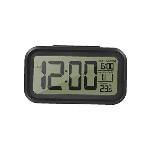 Reloj De Alarma Digital Rectangular Forma Inteligente Hablando Led Reloj Despertar Reloj Calendario Blanco Cara Negro Cáscara Pared Relojes De Pared