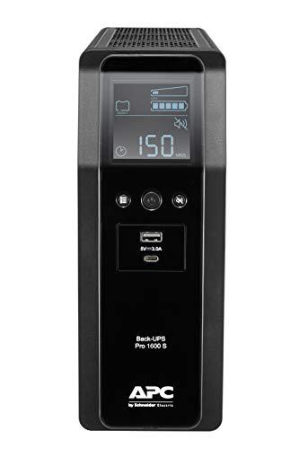 APC by Schneider Electric Back UPS PRO BR1600SI Gruppo di Continuità UPS, 1600VA, 8 IEC Outlets, LCD Interface, Onda Sinusoidale Pura in Uscita