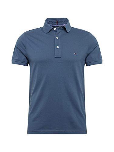 Tommy Hilfiger Herren Poloshirt Tommy Slim Polo Blau L