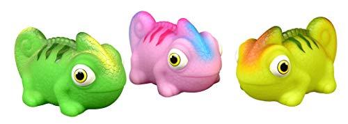 HEITECH Jouets de bain à LED pour bébé et enfant - jouet bain pour caméléon étanches et flottants en paquet de 3 - Jouets aquatiques, jouet pour le bain, jeux bain bebe