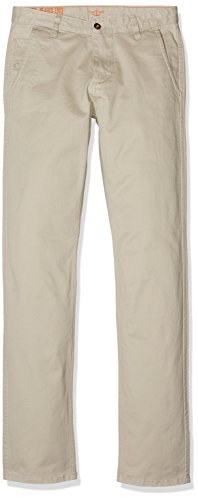 dockers Alpha Original Khaki Slim Tapered-Stretch Twill Pantalones, Beige (Safari Beige 0431), 28W / 32L para Hombre