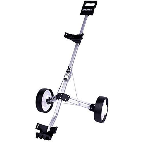 Feixunfan golfklubb väska 2-hjuls push-pull golfbil golfbil vridbar hopfällbar golfklubb reseförsäkring