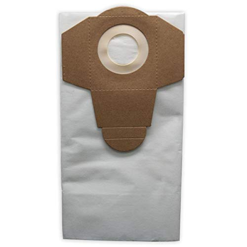 Bolsas de filtro de polvo blanco 20 L para aspiradora Parkside NTS 1200 1250 1300 A1 B2 C3 E4 F5 en seco y húmedo