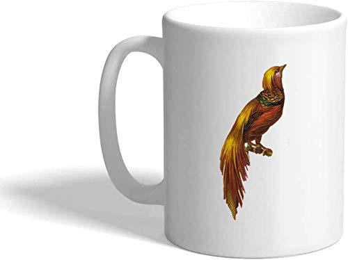 Taza de café de cerámica con diseño de faisán y animales domésticos, 11 onzas
