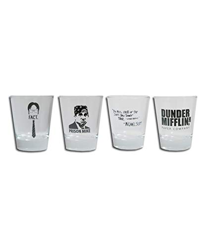 Cool TV Props - The Office Shot Glass Set of 4 - 1.5 oz - The...