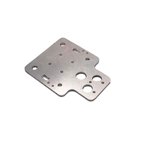 FLY MEN Professional Tools, 1pc Plate Metal Aluminum Alloy X Axis Carriage Plate MGN12H Upgrade for HE3D EI3/for Tarantula I3 3d Printer Parts CNC Parts Excellent Workmanship (Size : Dual version)
