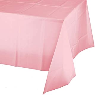 Classic Pink Plastic Tablecloths, 3 ct