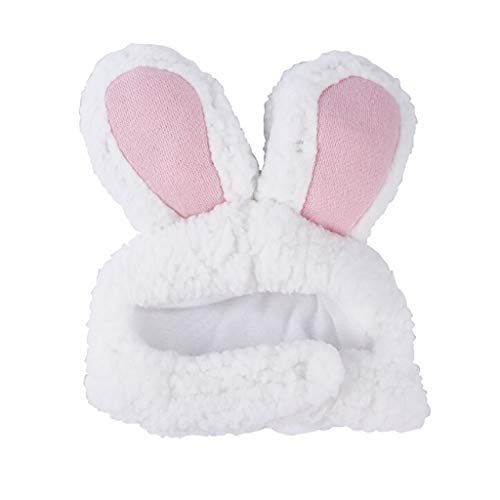 Pet Hat,FTXJ Dog Pet Bunny Rabbit Ears for Cat Small Dogs Kitten Party (30-34cm, Pink)