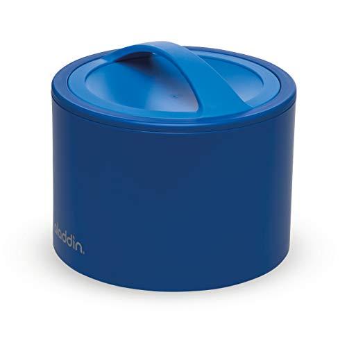 Aladdin Bento Lunch Box 600ml Blau - Essensbehälter hält Speisen heiß oder kalt | Doppelwandige Isolierung | Auslaufsicher | BPA-frei | Brotdose ist geeignet für die Spülmaschine und Mikrowelle