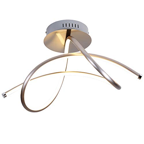Deckenleuchte mit LED 26 Watt | LED-Deckenlampe modern | Wohnraumlampe 230 V | LED-Board 3000 Kelvin warmweiß | Deckenbeleuchtung + gratis Taschenlampe