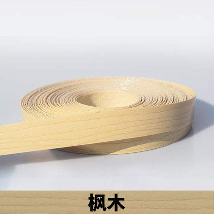 NO LOGO 1pc 10M Selbstklebende Möbel Holzfurnier Dekorative Kantenanleimmaschine PVC for Möbel Cabinet Office Tabelle Holzoberfläche Edging (Farbe : H)