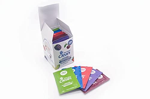 SiempreClean Toallitas Monodosis de Adultos Hidroalcohólicas | Pack 5 Olores | Toallitas Desinfectantes para Manos y Superficies | 30 Unidades