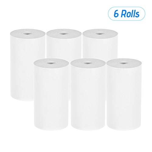 Aibecy Rollo de papel del recibo térmico 57 * 30 mm (2.17 * 1.18in) Impresión de boleto de la factura para la impresora de recibos de POS de caja registradora, 6 rollos