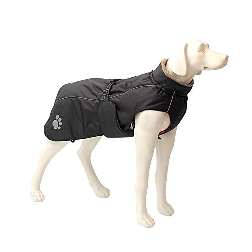 LDFN Hundewinterkleidung pet Warmer Mantel großes Hund Jacke Goldhaar Dobermann im Freien Wasserdichten Mantel Regenmantel hetzten (Color : A, Size : XL)