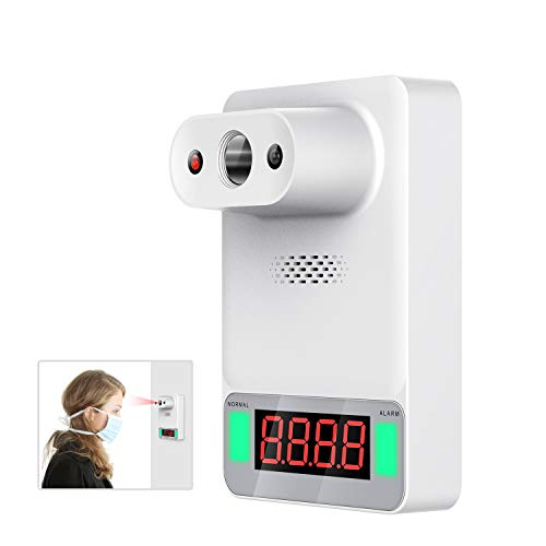 Wall Mounted Thermometer with Voice Reading,BEASKIN Infrared Digital Touchless Thermometer for Adults and Kids,Apply to Family Factories Shops Restaurants Rail Station Entrances School and Office