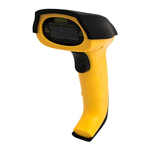 Laser 1D Wired Barcode Scanner with USB Cable Handheld Manual & Automatic Scanning Bar Code Reader FY-1840