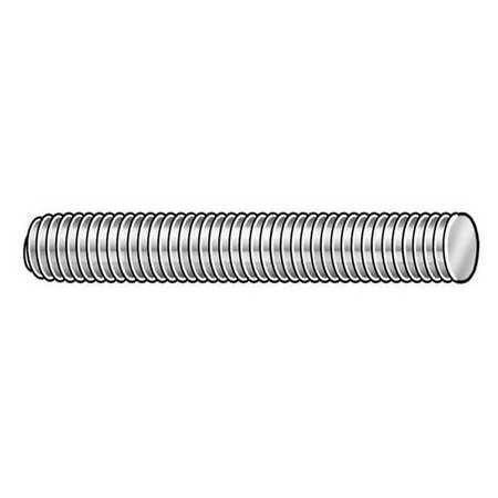"1/4""-20 x 6"" 316 Stainless Steel Fully Threaded Studs, 10 pk."