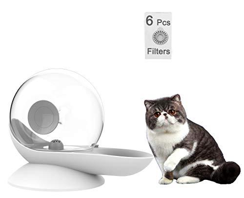 Schneckenförmiger automatischer Wasserspender für Katzen, Hunde, Katzen, Hunde, Wasserspender, 7 Ersatzfilter, großes Fassungsvermögen für Katzen, Hunde, kleine Tiere, BPA-frei, keine Aufladung (Grau)
