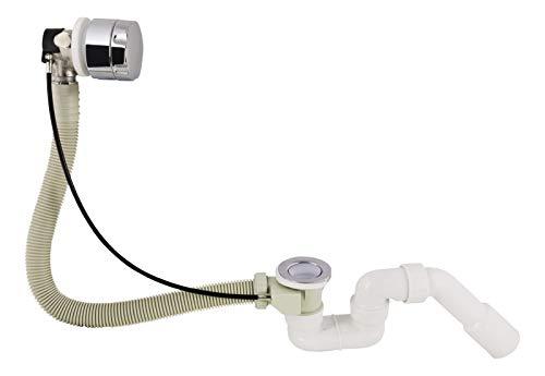 Calmwaters® - Wanneneinlauf für die Badewanne als Fertigset mit Ablauf- und Überlaufgarnitur und Abdeckung - 31PM5075
