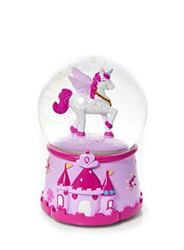 Mousehouse Gifts Schneekugel mit Einhorn und Musik Spieluhr für Mädchen