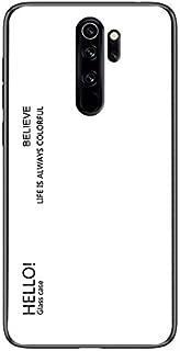 New For Xiaomi Redmi Note 8 Pro Gradient Color Glass Case(White) Starxx (Color : Yellow)
