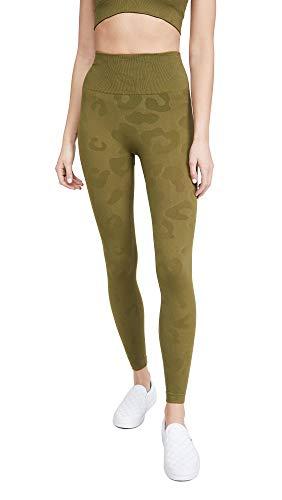 Phat Buddha Women's Honestly Kate Gracie Leopard Leggings, Olive Green, XS/S
