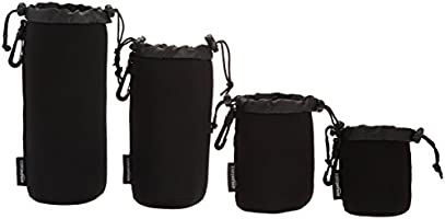 AmazonBasics Camera Lens Protective Pouches - Water Resistant
