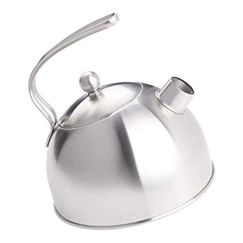 TQJ Teteras Para te Acero Inoxidable 3L Universalmodern silba quemadores Calderas, 304 acero inoxidable del pote del té, anti-escaldar manija, inducción de cocción, Cocina de gas Tetera Hierro Fundido