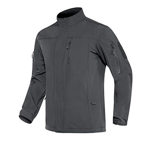 Mens Tactical Jackets Waterproof Jacket for Men Fleece Lining Jacket Rain Jacket Winter Coats for Men Athletic Jacket Men Windbreaker Men No Hood