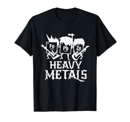 Heavy Metals Funny Periodensystem Chemie T-Shirt