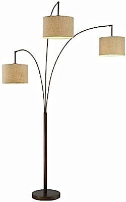 Adesso Trinity 3 Arc Floor Lamp Satin Steel Color