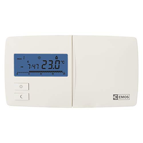 EMOS P5601N Digitaler Raumthermostat/programmierbarer Thermostat für Heizung, Heizungssysteme, Wasserheizung und Kühlungssysteme/Raumtemperaturregler, 230 V