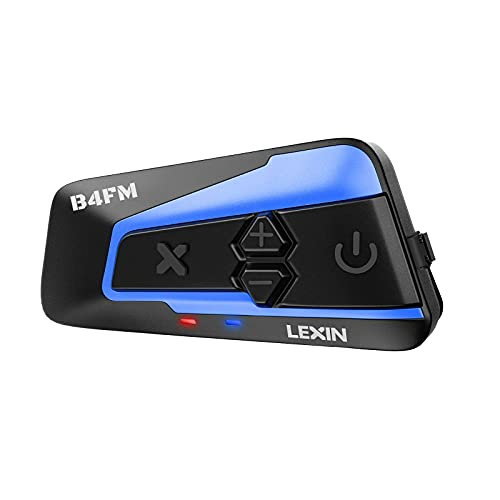 LEXIN 1pcs B4FM 10 Riders Motorcycle Bluetooth Headset with Music Sharing, Helmet Bluetooth Intercom with Noise Cancellation/FM Radio, Universal Communication Systems for ATV/Dirt Bike