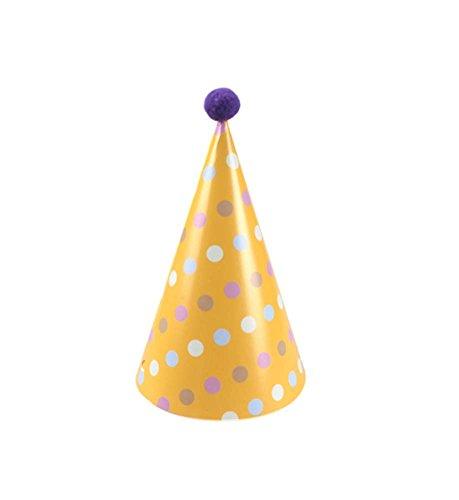Blancho Fournitures 7Pcs d'anniversaire d'enfants Hat Party Party Hat