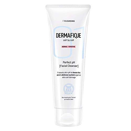 Dermafique Perfect Ph Facial Cleanser Face wash for normal to sensitive skin, with Chamomile & Vitamin E, SLES Free, paraben free, Ultra Mild, Deep cleanses, Dermatologist tested (100 ml)