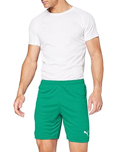 Puma 703441 - Short de football, Homme Vert (Pepper Green White), XL