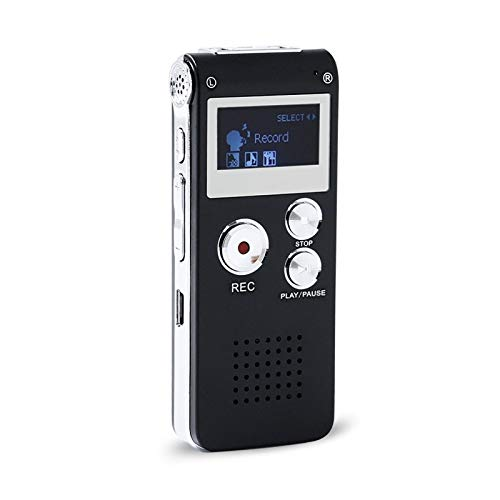 XuZeLii Digital Voice Recorder 8GB Mini USB Voice Recorder Flash Digital Audio Voice Recorder 650Hr Dictaphone 3D Stereo MP3 Player Suitable for Conference Speech (Color : Black, Size : Onesize)