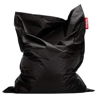 Fatboy® Original Sitzsack Black | Klassische Indoor Beanbag, Sitzkissen in Schwarz | 180 x 140 cm