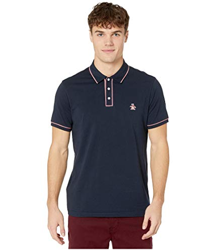 Original Penguin Men's The Earl Polo, Dark Sapphire Red Piping, Large