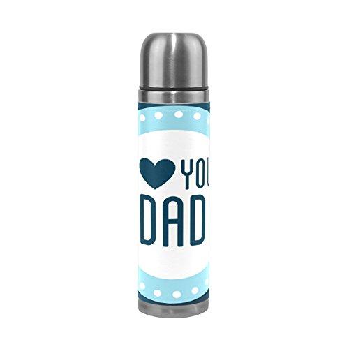 Mug de voyage, Thermos en acier inoxydable LeakProof Thermos isotherme Bouteille d'eau Best Dad Cadeau 500 ml