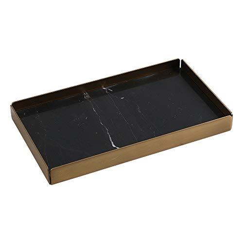 JOMSK Plateaux décoratifs pour Table Basse Bijoux Organisateur marbre Plateau, Salle de Bains Vaisselier Vanity Plateau Bijoux Bague de Vaisselle Organisateur cosmétiques