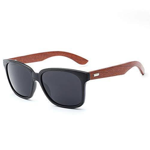 ZJN-JN Gafas de Sol Piernas Gafas de Sol Gafas de Hombres y de Mujeres clásico de Madera de Color de la película Retro de bambú Gafas de Sol Gafas de Moda (Color: Verde, Tamaño: Libre)