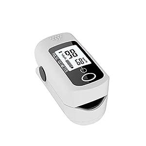 Joyfitness Pulsossimetro da Dito OLED, Ossimetro Portatile Monitor della Saturazione di Ossigeno nel Sangue Letture del Pulsossimetro da Dito SpO2 con Misurazioni della Frequenza del Polso
